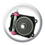 Completely sealed and durable gearbox is corrosion resistant.