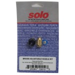 Brass adjustable nozzle kit with screw cap and filter
