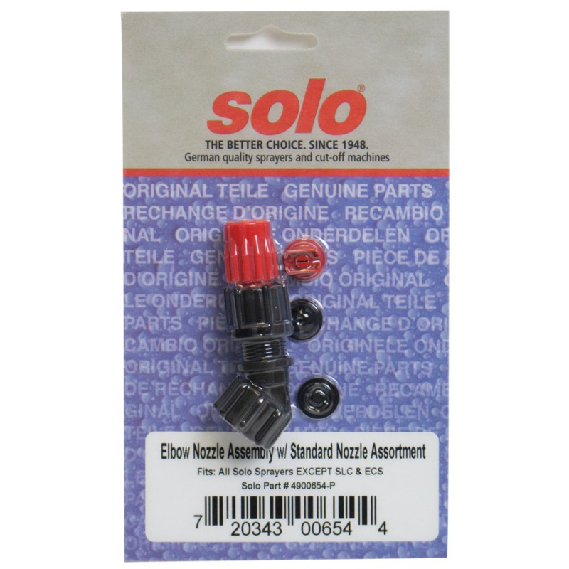 Solo 4900654-P Sprayer Elbow Nozzle Assembly Plus Standard Nozzle Assortment,New