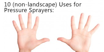 Pressure Sprayers – They're Not Just for Gardening!