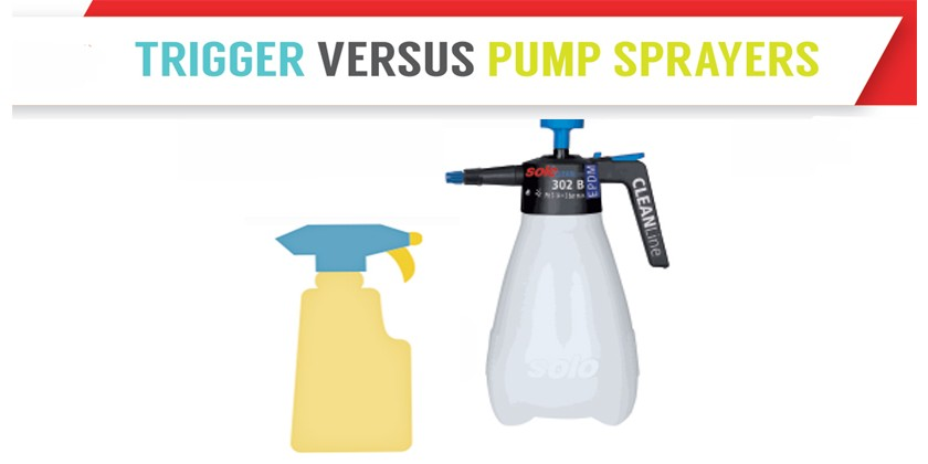 Trigger vs Pump Sprayers | Infographic
