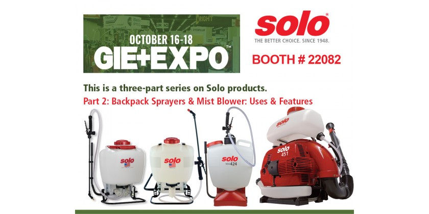 Backpack Sprayers and Mist Blower at the 2019 GIE+EXPO